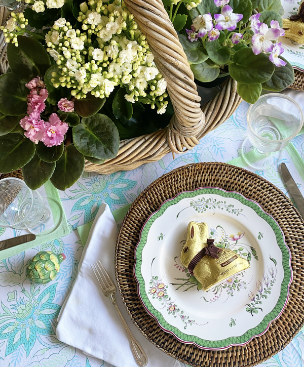 Mint Chintz Tablecloth