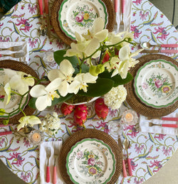 Winter Chintz Tablecloth