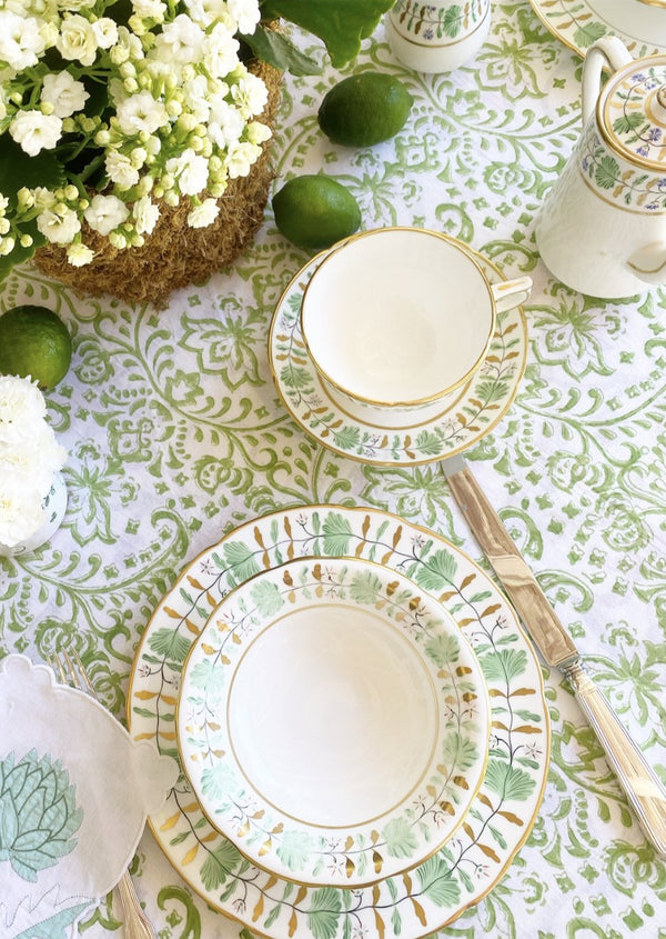 PRE ORDER Grass Florentine Tablecloth