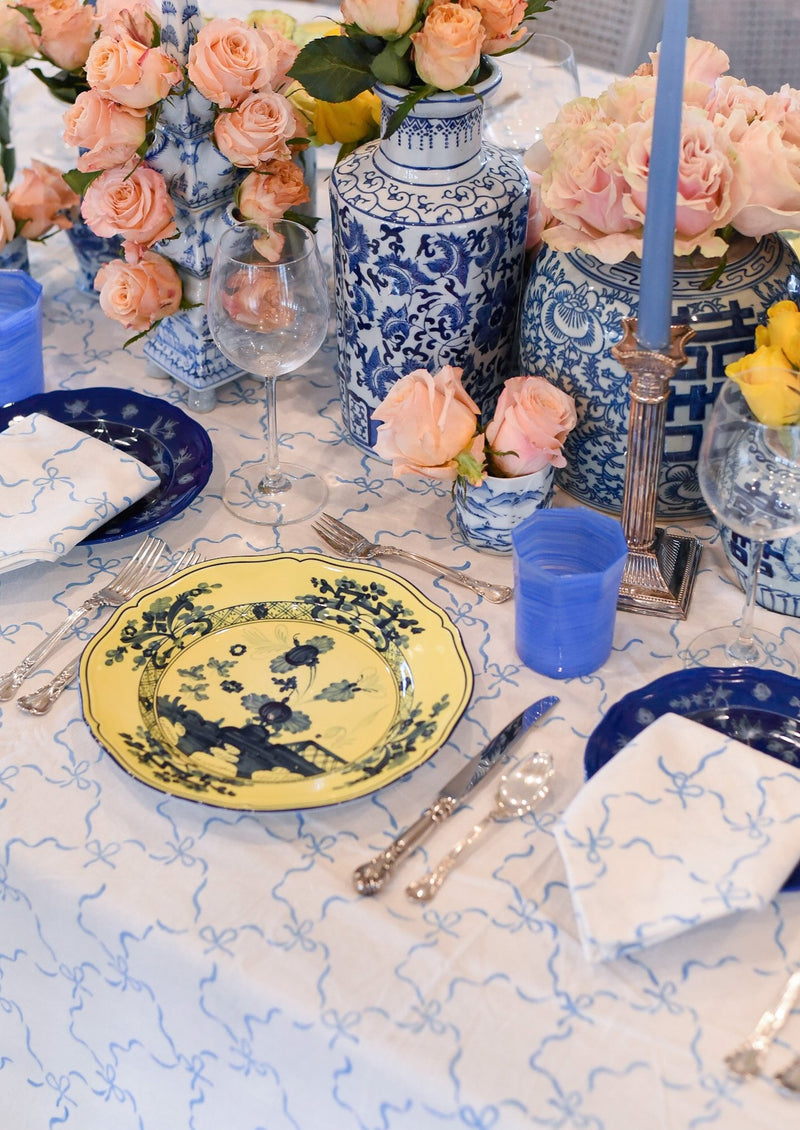 Blue Bows Tablecloth