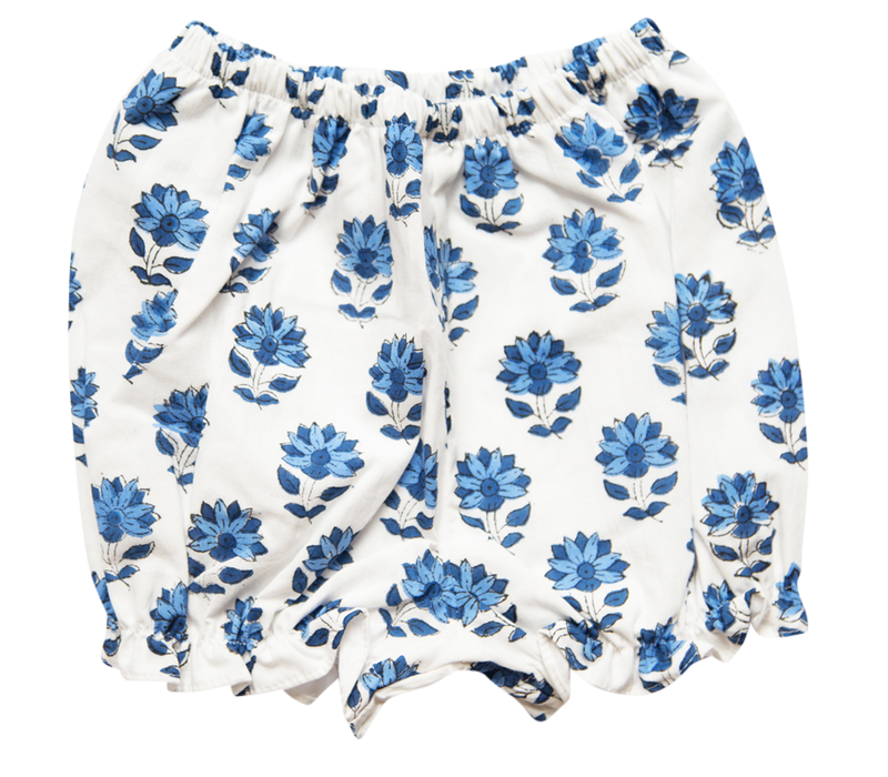 India Amory x Smockingbird Bloomer Set - Cornflower Blue