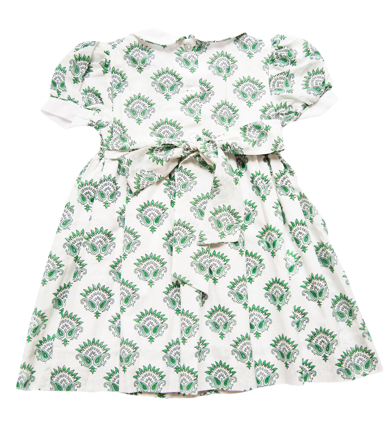 India Amory x Smockingbird Dress - Emerald Green