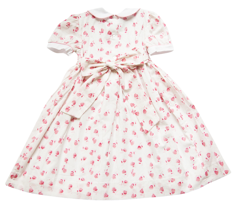 India Amory x Smockingbird Dress - Hibiscus Pink