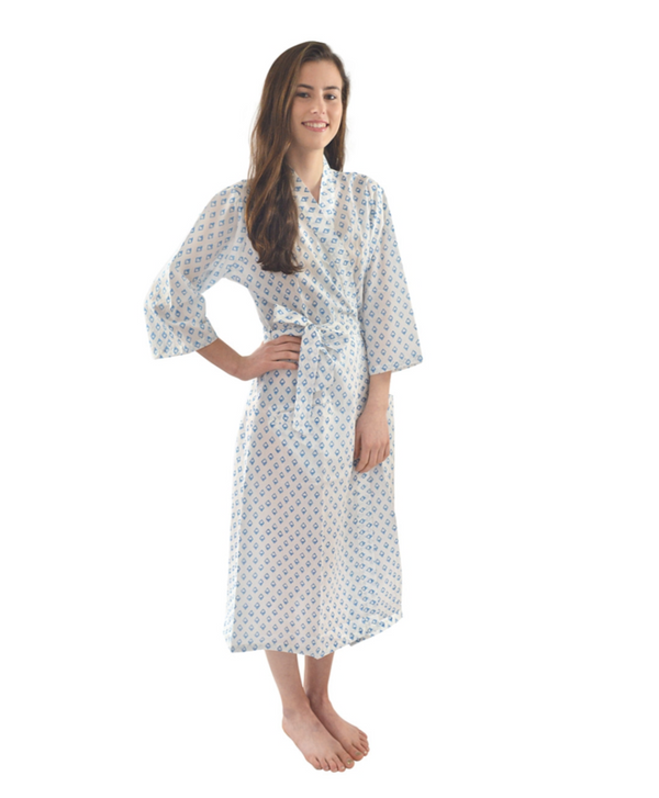 Blue Diamonds Robe