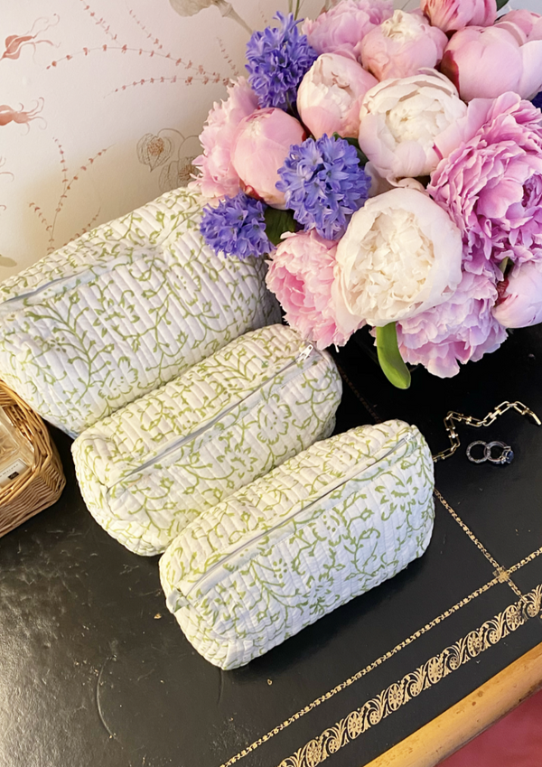 Spring Green Toiletry Set of 3