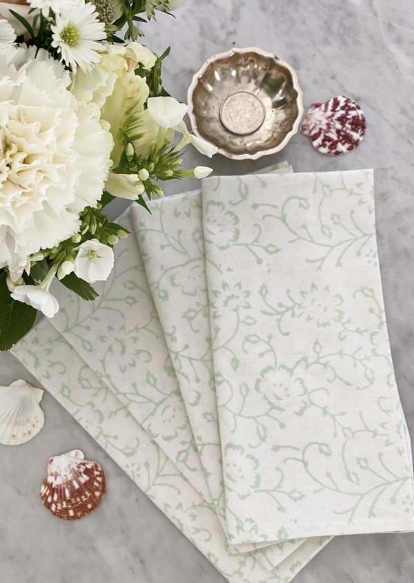 Spring Green Dinner Napkins