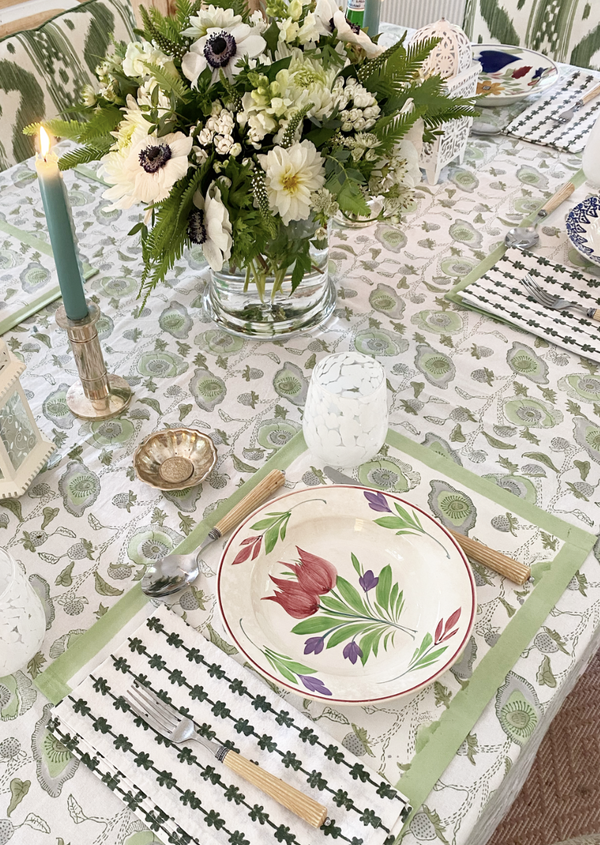 Celadon Buttercup Tablecloth