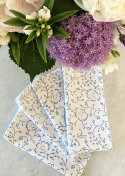 Spring Blue Dinner Napkins