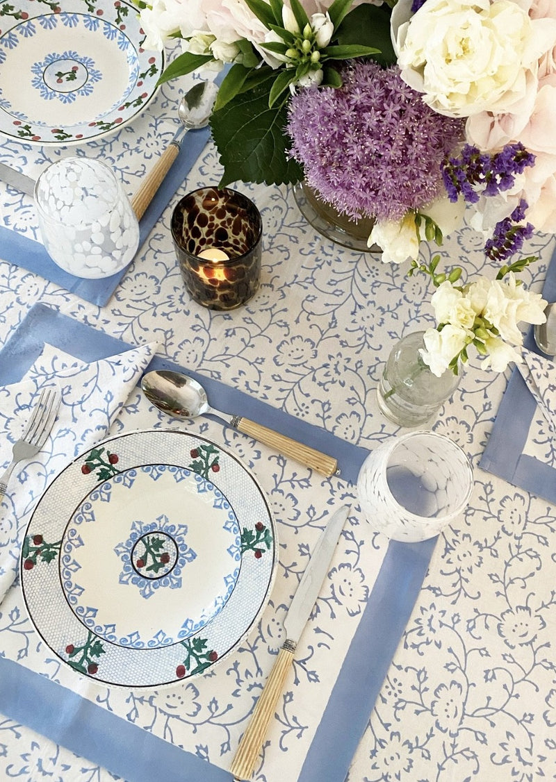 Spring Blue Tablecloth