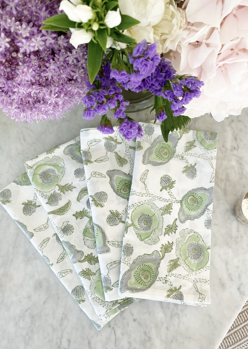Celadon Buttercup Dinner Napkins