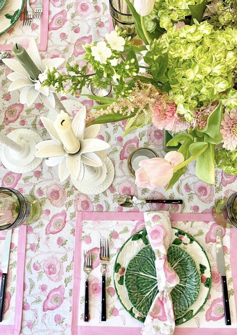 Petal Buttercup Placemats - Set of 4 with Dinner Napkins