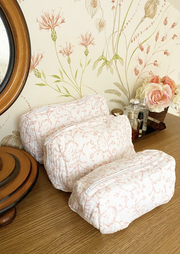 Spring Pink Toiletry Set of 3