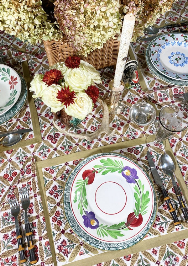 Autumn Trelliage Placemats - Set of 4 with Dinner Napkins