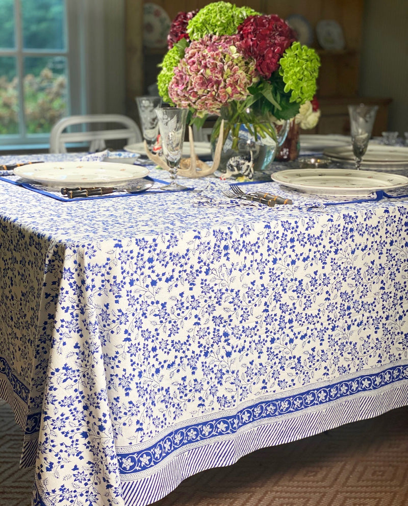 Alpine Blue Placemats - Set of 4 with Dinner Napkins