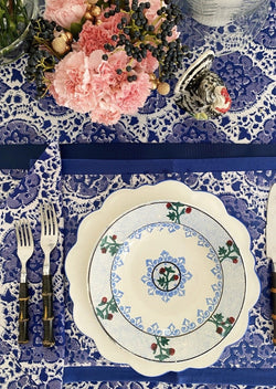 Majorelle Blue Placemats - Set of 4 with Dinner Napkins