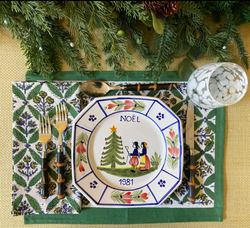 Forest Trelliage Placemats - Set of 4 with Dinner Napkins