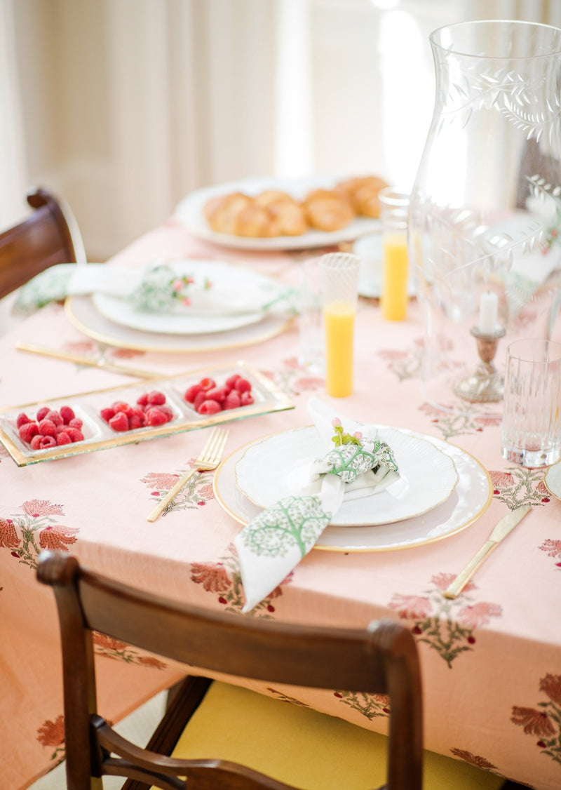 Coral Beach Peach Tablecloth
