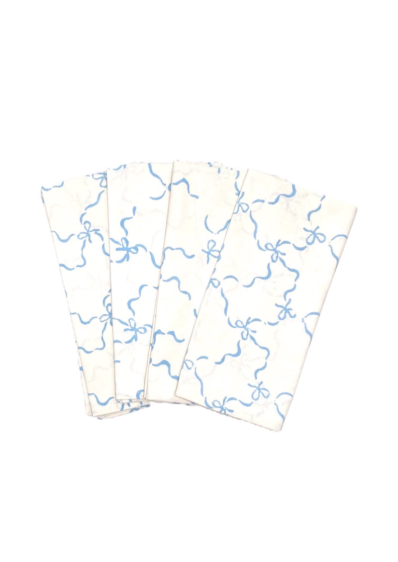 Blue Bows Dinner Napkins