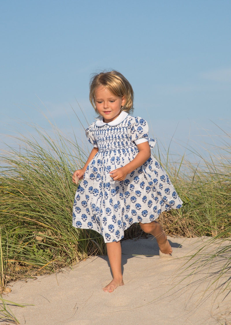 India Amory x Smockingbird Dress - Cornflower Blue
