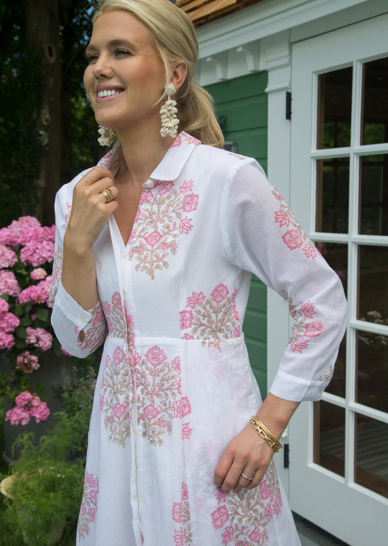 The India Amory Shirt Dress - Petal Poppy