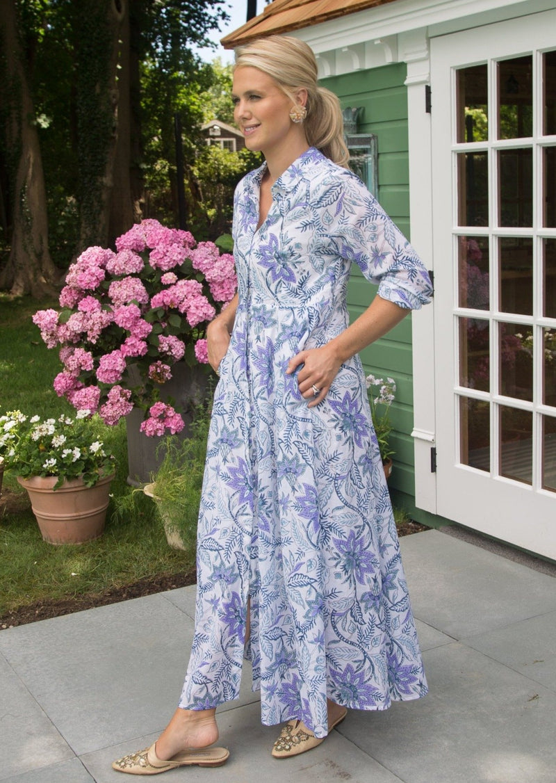 The India Amory Shirt Dress - Aegean Chintz