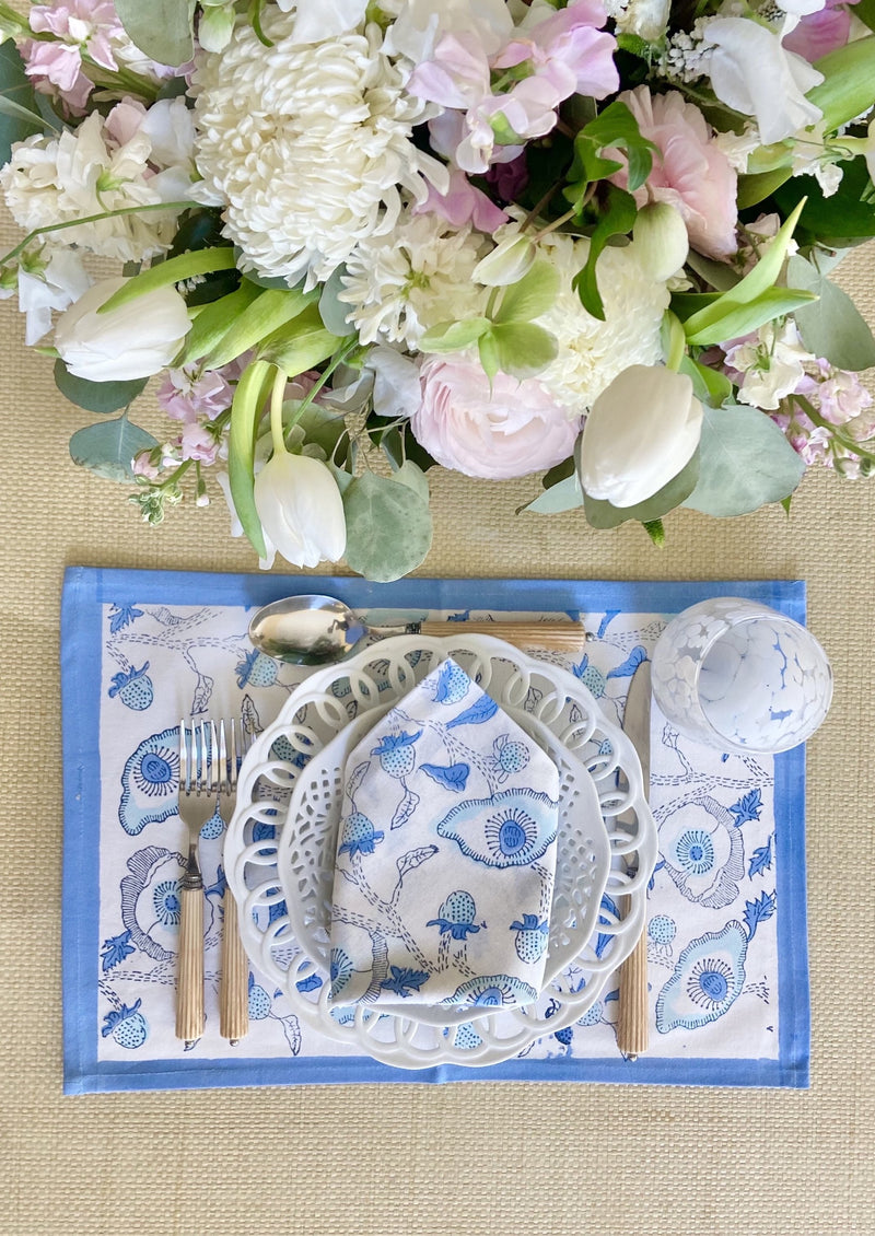 Lapis Buttercup Placemats - Set of 4 with Dinner Napkins