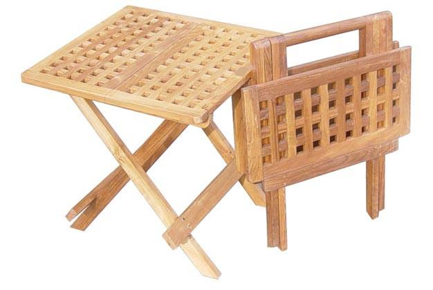 Checkerboard Folding Table Square - Toms Outdoor Furniture