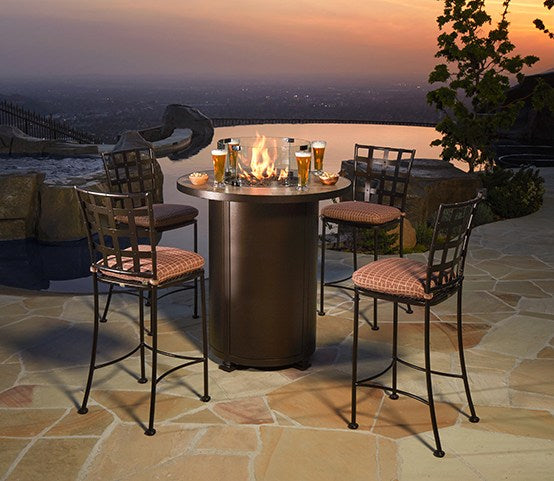 "Santorini Fire Pit 36"" Round Counter Height - Toms Outdoor Furniture"