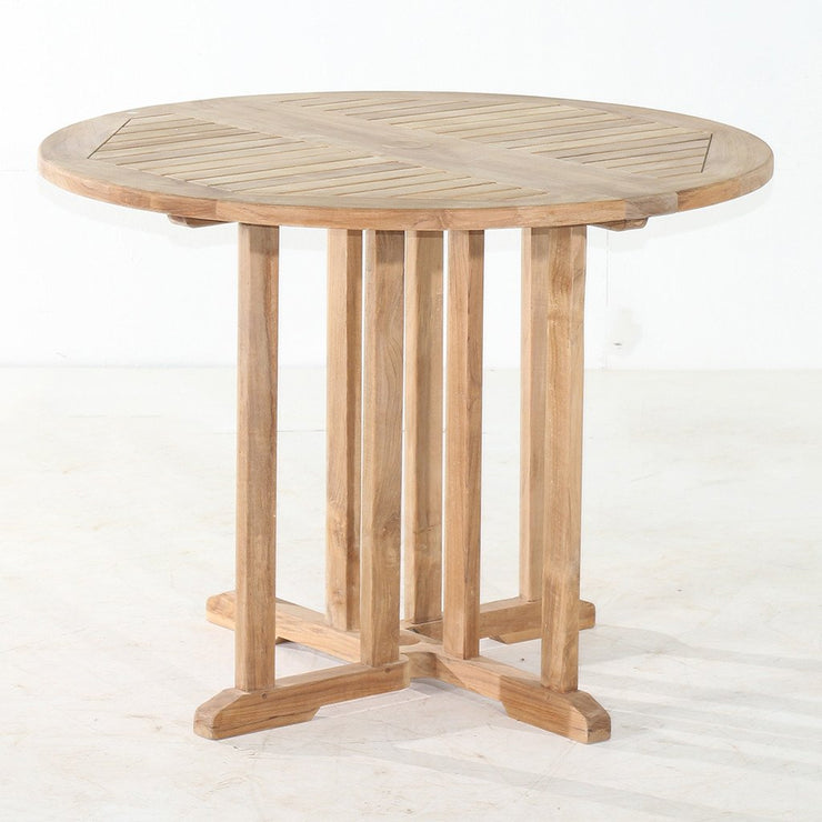 Teak Drop Leaf Table - Round - Toms Outdoor Furniture