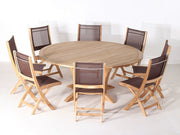 Newport Table set 9PC - Toms Outdoor Furniture