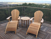 Teak Adirondack Chair Set | Classic Teak - Toms Outdoor Furniture
