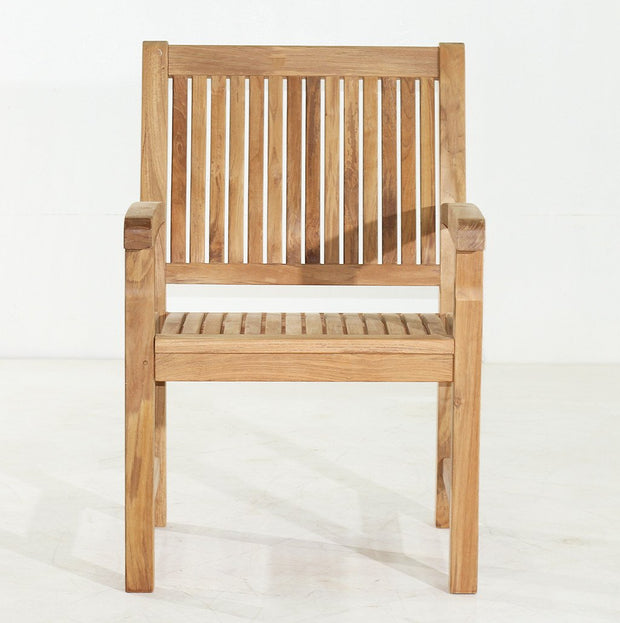 Marley Teak Arm Chair - Toms Outdoor Furniture