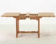 Teak Deluxe Rect Extension Table - Toms Outdoor Furniture