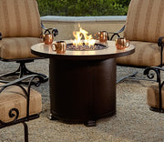 "Santorini Fire Pit 36"" Round Chat Height - Toms Outdoor Furniture"