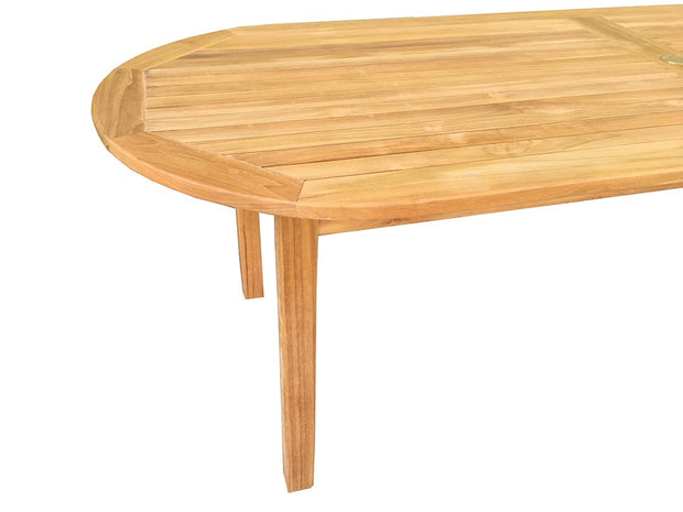 Teak Dining Table Oval - Toms Outdoor Furniture