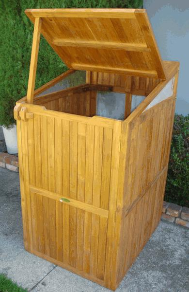 Teak Trash Can Box - Toms Outdoor Furniture