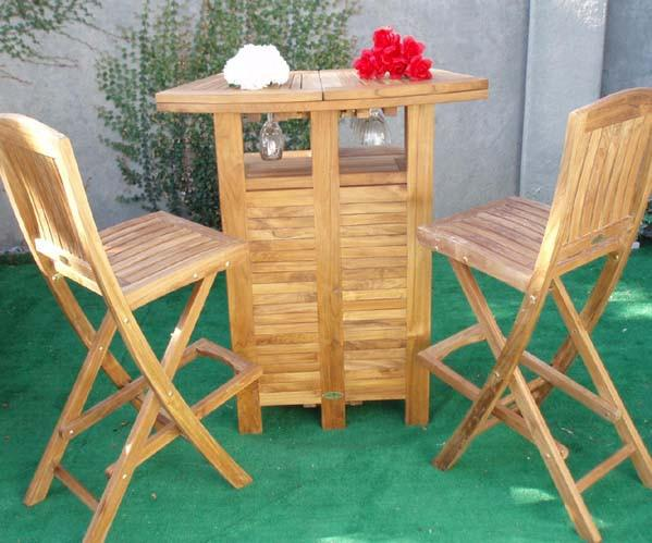 Teak Folding Bar - Toms Outdoor Furniture