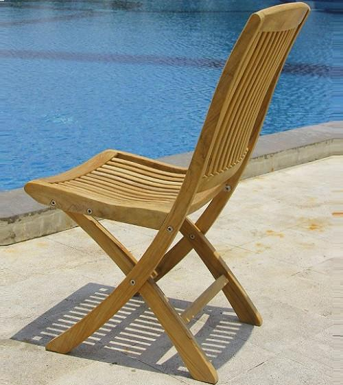 Cambria Folding Teak Side Chair - Toms Outdoor Furniture