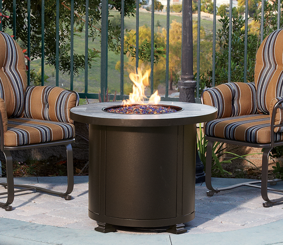 "Santorini Fire Pit 30"" Round Chat Height - Toms Outdoor Furniture"