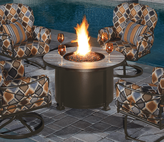 "Santorini Fire Pit 42"" Round Chat Height - Toms Outdoor Furniture"