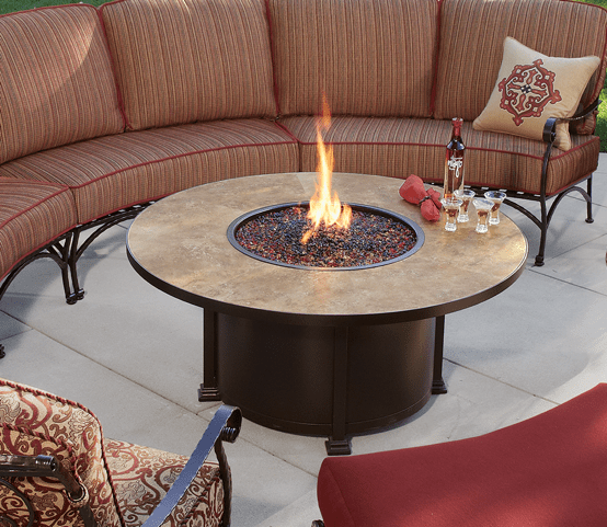 "Santorini Fire Pit 54"" Round Chat Height - Toms Outdoor Furniture"