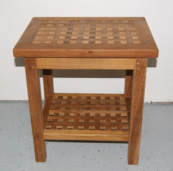 Checkerboard Shower Bench - Toms Outdoor Furniture