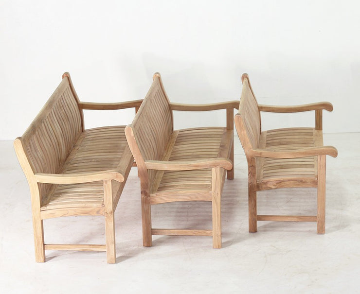 Commercial Teak Bench 6f - Toms Outdoor Furniture
