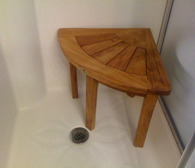 Corner Shower Bench - Toms Outdoor Furniture
