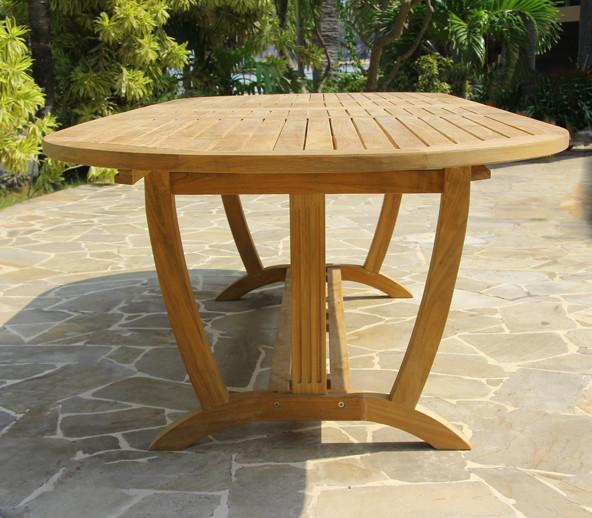 Teak Deluxe Oval Extension Table Large - Toms Outdoor Furniture