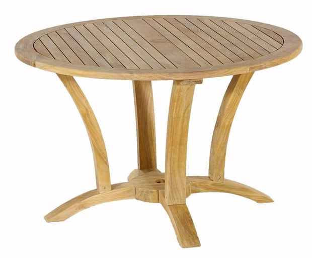 Deluxe Teak Round Table - Toms Outdoor Furniture