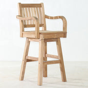 Teak Swivel Bar Chair - Toms Outdoor Furniture