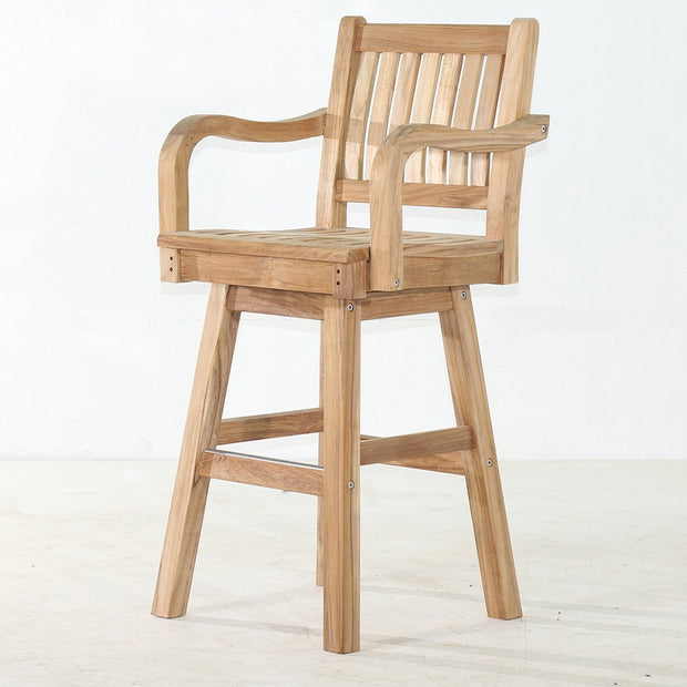 Super Teak Swivel Bar Chair Unemploymentrelief Wooden Chair Designs For Living Room Unemploymentrelieforg