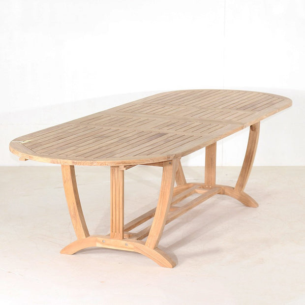 Teak Deluxe Oval Extension Table - Toms Outdoor Furniture