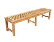 Madison Backless Teak Bench - Toms Outdoor Furniture